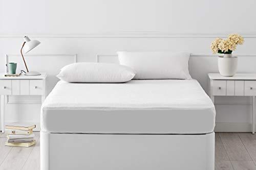 Pikolin Home - Protector de colchón de rizo impermeable, transpirable y muy absorbente válido para colchones de hasta 32 cm de altura