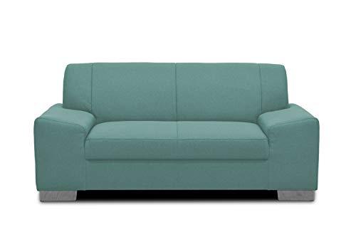Domo Collection Alisson Couch | 2-Sitzer Sofa, 2er Garnitur, grün