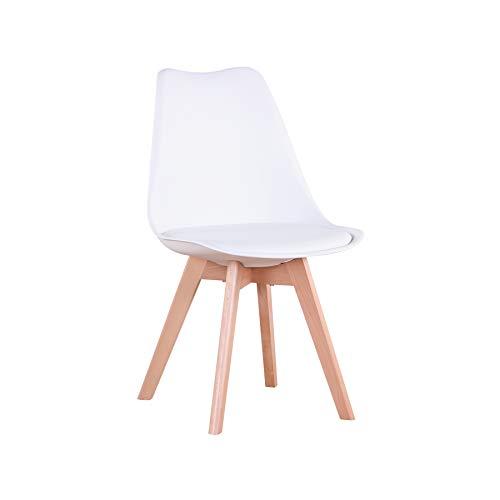 GrandCA HOME 4er/6er Set Stühle, Esszimmerstuhl, Stuhl im nordischen Stil, geeignet für Wohnzimmer, Esszimmer(Weiß) (Stuhl)