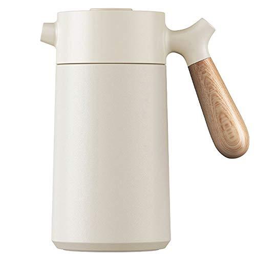 Cafetera de mano aislada, hervidor de presión, olla pequeña Moka, tetera al vacío (color blanco)