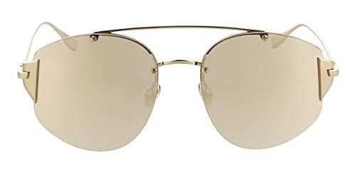 Christian Dior Stronger J5G SQ Sunglasses Gold Frame Gold Mirror Lenses, 58-18-145