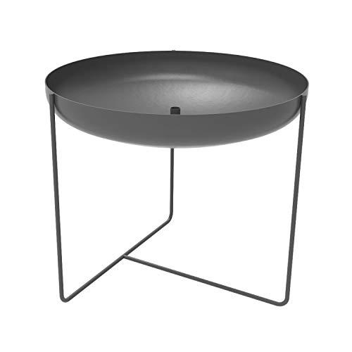 Konstantin Slawinski Plantbowl 750 / XXL Design Pflanzschale Blumenkübel für aussen/Metall grau / 75x75x65cm