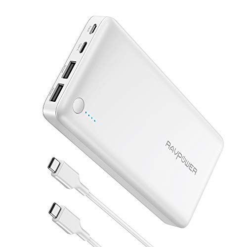 USB C Chargeur Portable 26800mAh Batterie Externe, RAVPower Power Bank avec 30W Power Delivery, Compact pour iPhone 6s/7/6/x Samsung Huawei Macbook ipad Nintendo Switch