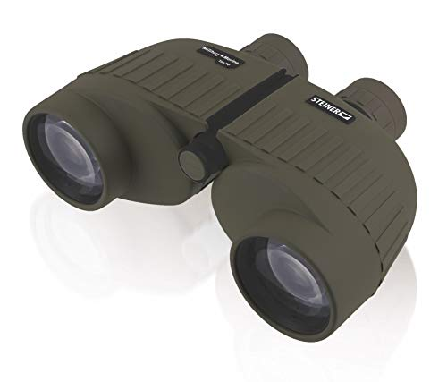 Steiner Military-Marine Series Binoculars, Lightweight Tactical Precision Optics for Any Situation, Waterproof, Green, 10x50