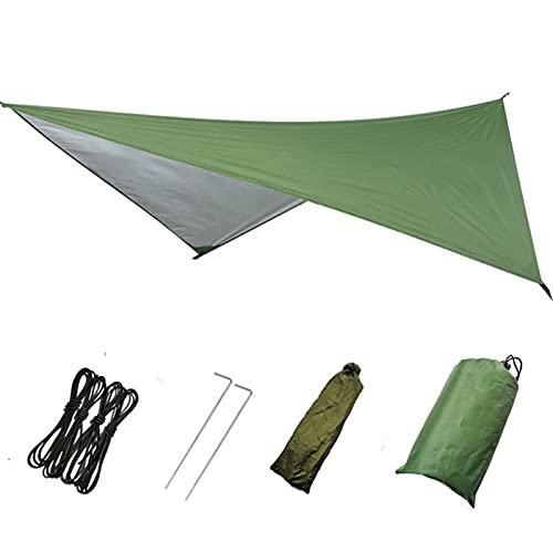 Toldo de Refugio Camping Hamgock Rain Fly Tent Tarp 1500mm Refugio impermeable Sombrilla Portátil Playa Sol Shelter con cuerda de viento elástica, uñas de piso, bolsa de almacenamiento Toldo Camping I