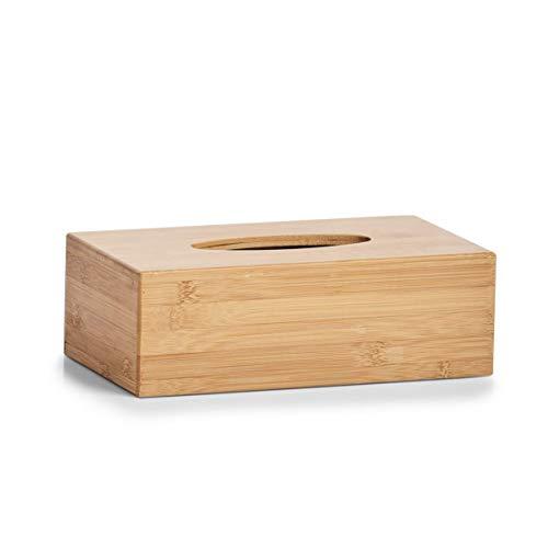 Zeller 25305 Caja para Toallitas Faciales, Madera, Marrón, 27.5x15.5x8.5 cm