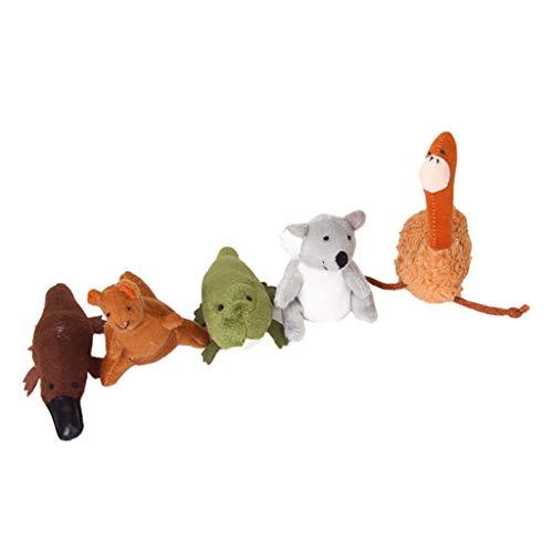 perfeclan 5X Marionetas De Dedo De Animales Australianos Niños Juguetes De Educación De Felpa Suave Koala ... Emu