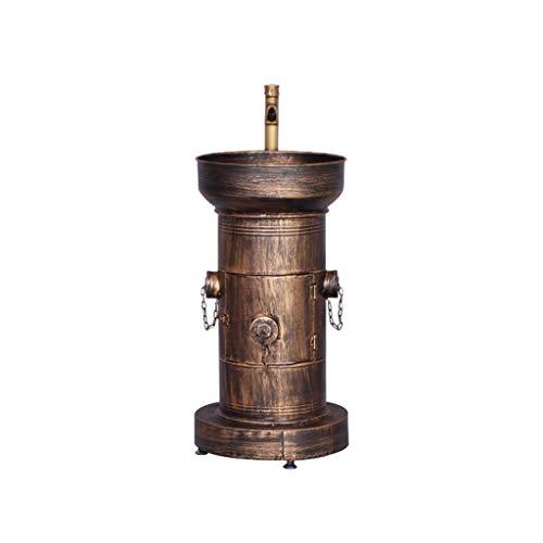 ZYACHI Waschbecken Mit Wasserhahn, Feuerhydrant Amerikanischer Retro-Stil Eiserne Kunst Standwaschbecken (Farbe : Copper)