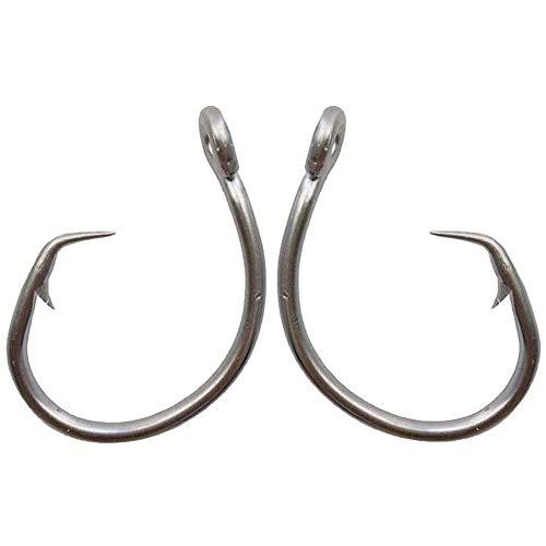 AGOOL Tuna Circle Hooks - Stainless Steel Fishing Hooks 2X Strong Big Game Saltwater Fishing Hooks Short Shank Circle Hook 20pcs/Pack Size: 1/0-11/0 (7/0,20 Pcs)
