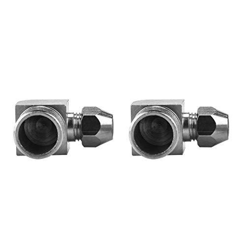 Manguera de aire de rosca macho de 90 grados, 6/8/10 mm, manguera de aire acoplador rápido adaptador 5 piezas para conector (3/8 ', 8 mm)