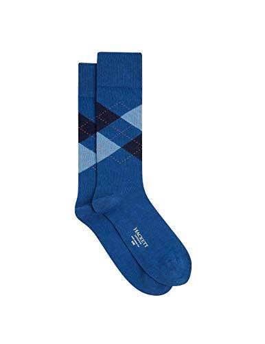 Hackett Summer Argyle Herren Socken Navy Gr. M/L, blau