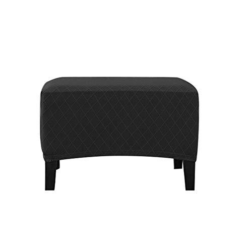 Seasons Shop beschermhoes voor voetensteun, overtrek voor kruk, van stof voor stoelen, bank, opslag, spandex, elastisch, rechthoekig, voetensteun, bank, binnenin