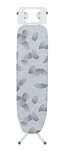 Wenko Bügeltisch Base Bügelbrett, mehrfach höhenverstellbar, Metall, Weiß, 110 x 30 cm