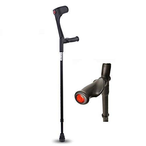 XYSQWZ Forearm Crutches - Lightweight Cuff Crutch - Adjustable Ergonomic Durable for Standard and Tall Adults Black Right Hand