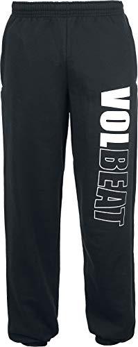 Volbeat Logo Homme Bas de survêtement Noir M, 100% Coton, Loose Fit