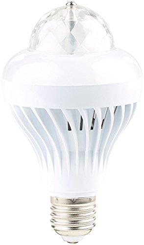 Lunartec Discoleuchte: Rotierende Disco-LED-Lampe, Galaxie-Effekt, Weißlichtmodus, E27, 5 W (Partyleuchte)