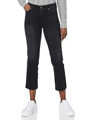 7 For All Mankind The Straight Crop Jeans, Nero, 42^44 Donna