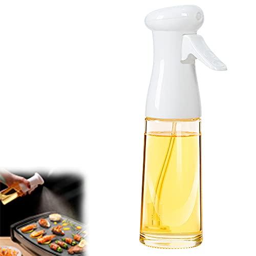 1 unids aceite de cocina rociador 7 oz/200 ml de seguridad alimentaria aceite de vidrio Mister para freidora de aire asar hornear ensalada barbacoa