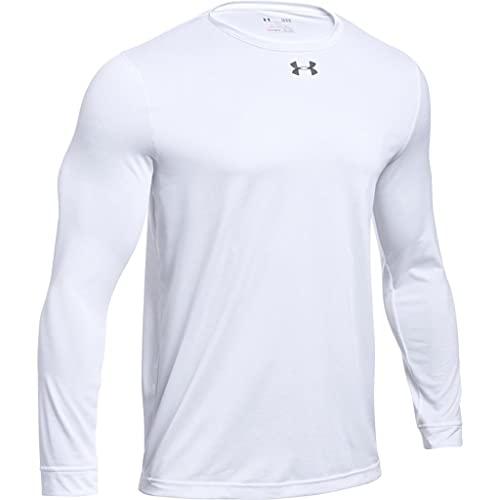 Under Armour Men's UA Locker 2.0 Long Sleeve Shirt (XX-Large, White-Graphite)