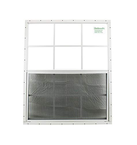 30 x 36 Shed Window White Flush Safety Glass Garage Barn Storage Shed Coops Playhouse Tree H