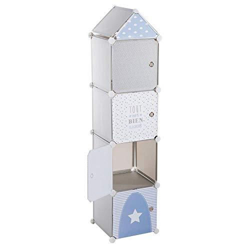 Mobile a colonna - A forma di torre - Colore: BLU, GRIGIO e BIANCO