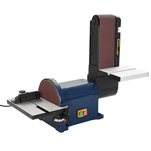 vidaXL Bandschleifer Tellerschleifer Schleifmaschine Bandschleifmaschine Schleifband Schleifteller 550 W 200 mm 2850 U/min 0°-45° Verstellbar Elektrisch