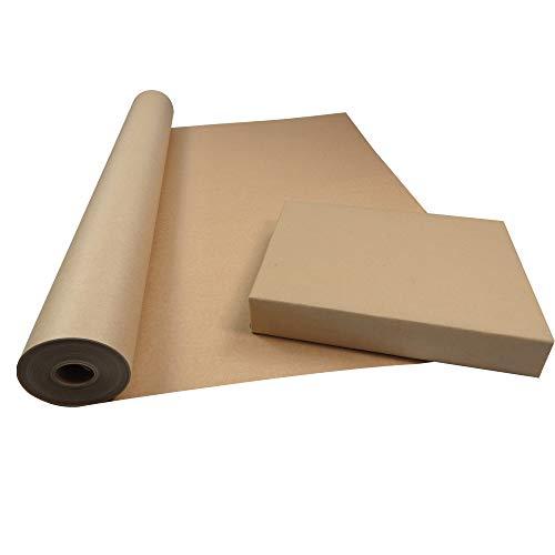 Triplast Geschenkpapier-Rolle, 750 mm x 50 m, aus 100% recyceltem Papier, biologisch abbaubar und vollständig recycelbar, Braun, 50 m