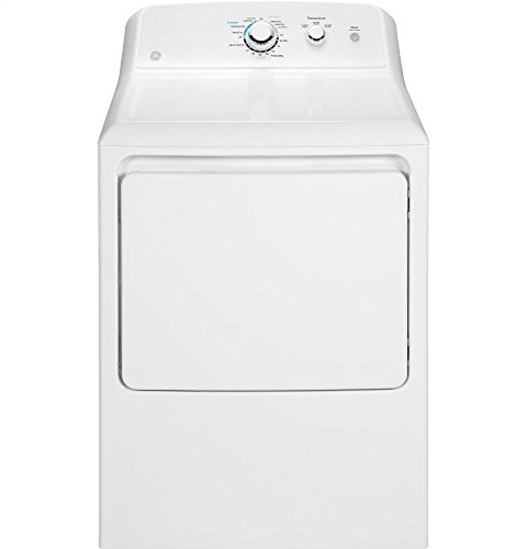 GE GTD33GASKWW Aluminized Alloy Drum Gas Dryer, 7.2 Cu. Ft. Capacity, White