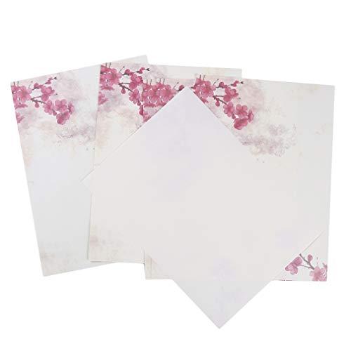Jixing Briefpapier Plum Blossom Lotus Leaf Vintage Schreibpapier Bürobedarf Weihnachtskarte, Pflaumenblüte