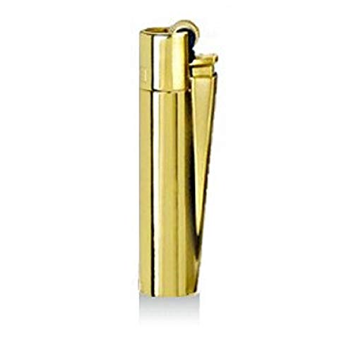 Clipper® Feuerzeug - Edition Metal Flint - Gold Hochglanz mit Metallbox