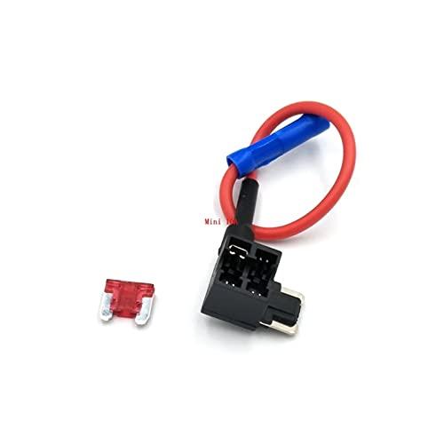 TUEWDFSA Fusible 12V Pequeño tamaño de Fusible de Coches de tamaño Mediano Add-A-Circuito Adaptador de Grifo con Micro Mini Standard ATM Blade Fuse Componentes eléctricos (Color : Mini 10A)