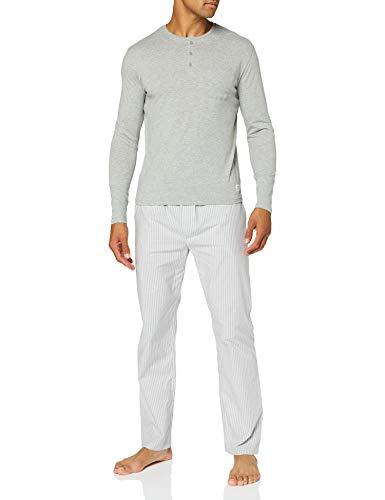 Springfield Pij Long Organic-c/43 Pantalones de Pijama, Gris (Dark_Grey 43), S (Tamaño del Fabricante: S) para Hombre