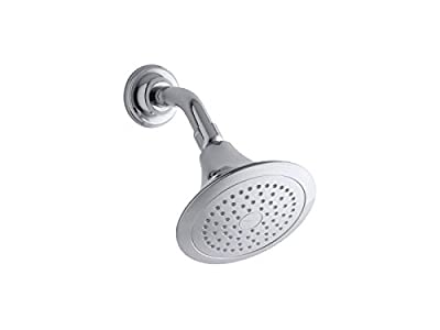 KOHLER K-10282-AK-CP Forte 2.5 GPM Single-Function Wall-Mount Showerhead With Katalyst Spray, Polished Chrome