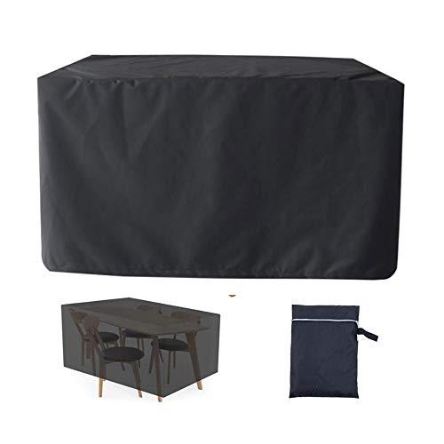 XGGYO Funda de Muebles de Jardín Impermeables, Cubierta de Muebles de Jardín 420D Oxford, Jardín Herramientas Protectores/Negro / 308×138×98cm