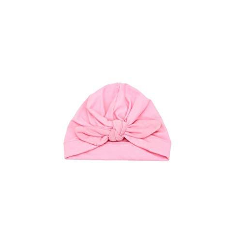 Nicetruc Baby Knotted Hat Schön Bowknot Beanie Cap Baby-Junge-Baby-Winter-warme Häkelarbeitknit-Hut-rosa