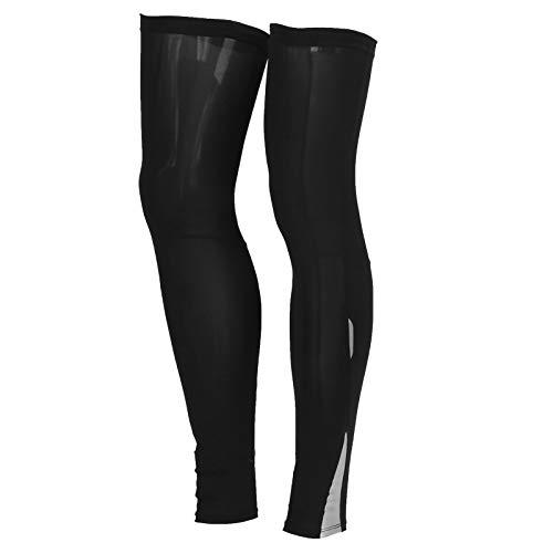 2 uds.Cubierta de Calentador de piernas Fibra de Poliuretano Seda de Hielo Calentadores de piernas para Ciclismo Senderismo Mangas para piernas para Deportes al Aire Libre(L)