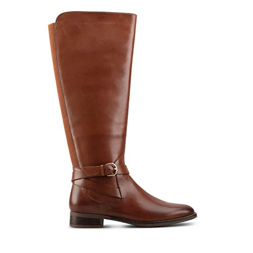 Clarks Hamble High Leather Boots in Dark Tan Wide Fit Size 7½