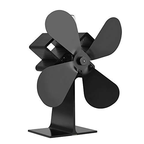 Funien Ventilador de la Estufa,distribución eficiente del Calor de la Fan casera de la Chimenea de Las Cuchillas 4