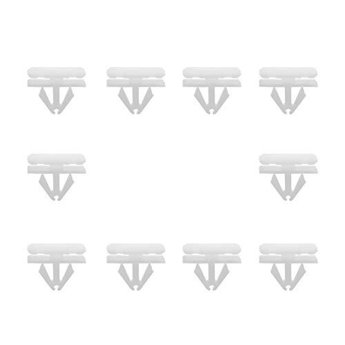 sourcing map 10Pcs Auto Blanche Corps Rivet Plastique Aile Clip Fixation Pare-Choc pour Ford