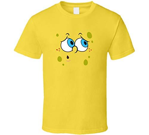 YONGMAO Bob Esponja preocupado cara Halloween disfraz camiseta Daisy