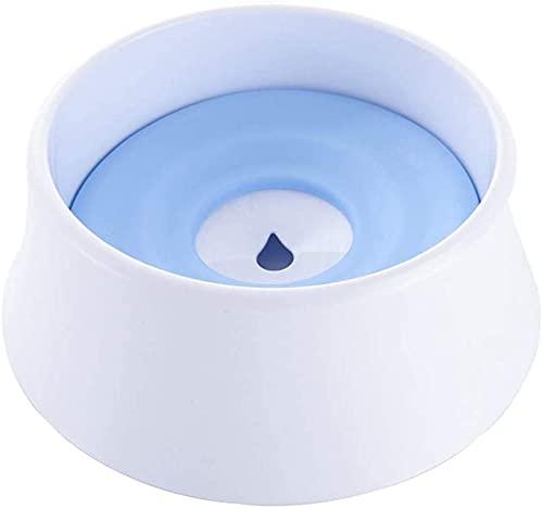 1200ml Pet Cats Dog Bowl Water Bowl Floating Bowl Food Feeder Dispensador Anti-desbordamiento Fuente de Mascota (Color : Blue)