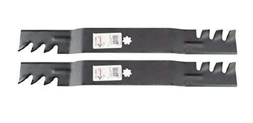 Rotary Copperhead Mulching Mower Blades Fit John Deere Models D100 LA100 Replaces OEM GX22151 GY20850 For 42 Inch Deck (pack of 2)