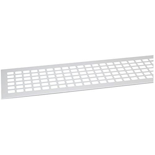 SECOTEC Lüftungsgitter 80 x 800 mm| Alu | Oberfläche: natur eloxiert | 1 Stück Abluftgitter