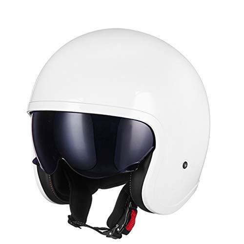 DUCCM Casco de Cara Abierta,Casco Jet,Medio Casco de Motocicleta para Hombres,Mujeres Visera de Sol Hebilla de liberación rápida Cascos de Ciclismo de Media Cara ECE Certificado
