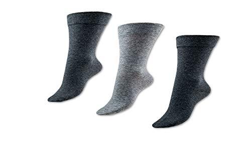 Vitopia 6 Paar Diabetiker-Socken Herren | Extra weiter Schaft ohne Gummi-Druck |Venenfreundliche...