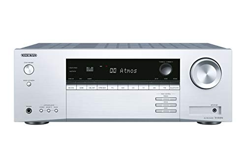 Onkyo TX-SR494(S) ricevitore AV a 7.2 canali (Dolby/DTS:X, AccuEQ, AccuReflex, 4K, Bluetooth, 160 W/canale), argento