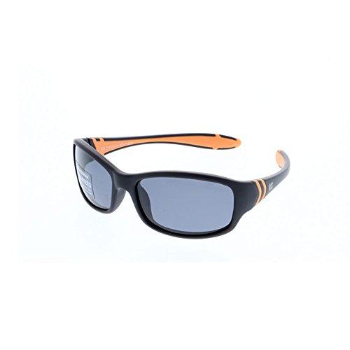 H.I.S Polarized zonnebril Kids HP50102, zwart/oranje, grijze glazen, 1 stuk