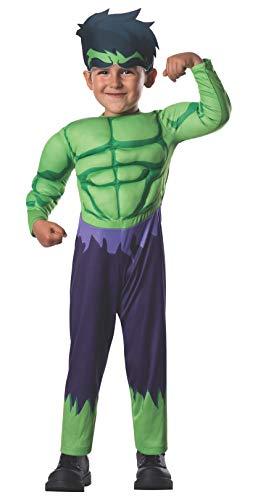 Avengers - Disfraz de Hulk Deluxe para niños, infantil talla 1-2 años (Rubies 620016-T)