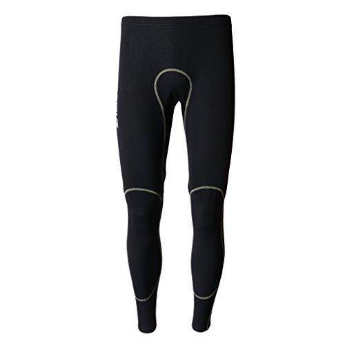 Colcolo Pantalones de Neopreno para Hombre, Pantalones de Neopreno de 1,5 Mm, Traje de Buceo, Bañador, Pantalones de Paleta - Negro, M