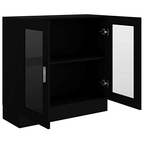 Festnight Aparador Salon | Armario Salon |vitrinas para Salon | Librerías de salón | Armario de Almacenamiento | Aparador Cocina Negro,82,5x30,5x80 cm